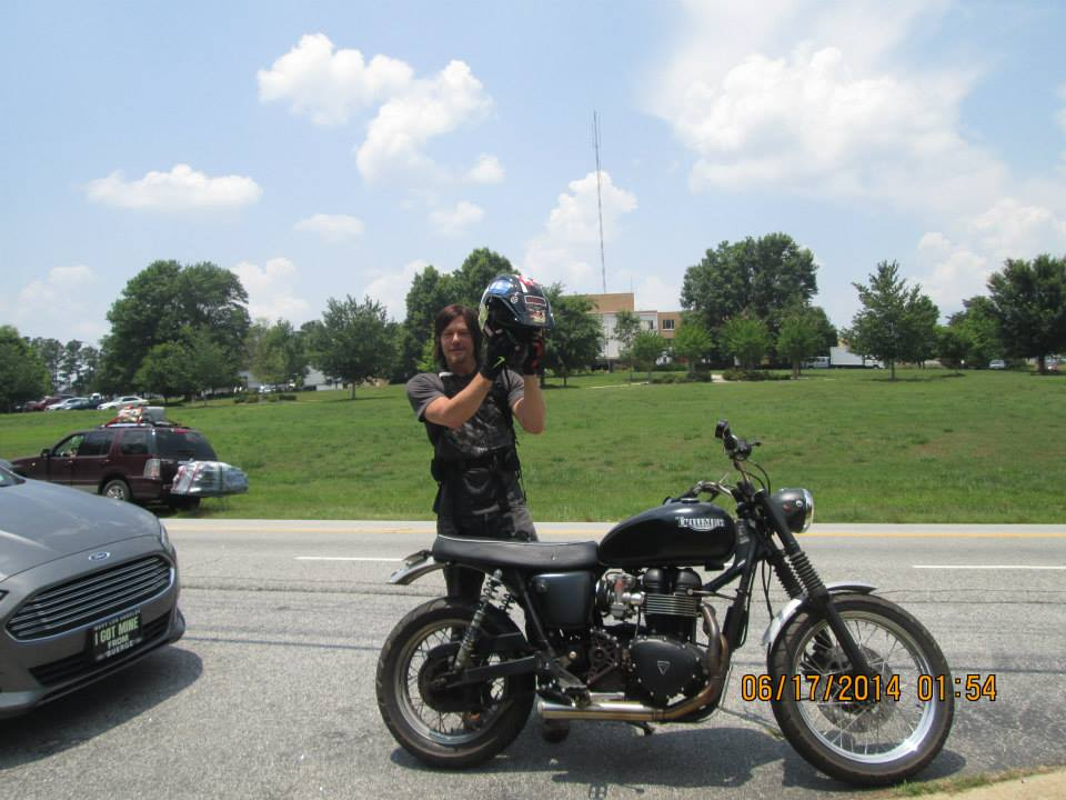 norman and bike